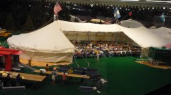 The circus dining tent