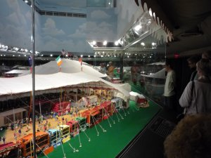 The circus animal tents